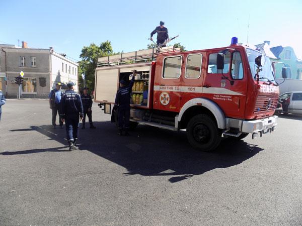 Снятинський районний відділ управління ДСНС в Івано-Франківській області отримав пожежний автомобіль. Фото